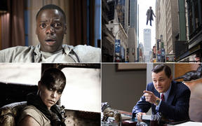 Get Out (2017, directed by Jordan Peele), Birdman (2014, directed by Alejandro González Iñárritu), Mad Max: Fury Road (2015, George Miller), and The Wolf of Wall Street (2013, Martin Scorsese).