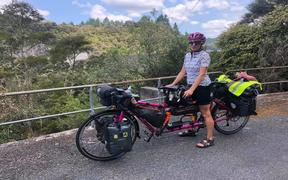 Catherine Dixon and Rachael Marsden are tandem cycling around the world for charity.