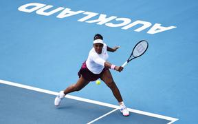 Serena Williams at the ASB Classic in Auckland, 2020.