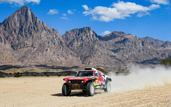 Carlos Sainz competes in Dakar Rally.
