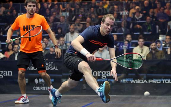 New Zealand squash player Campbell Grayson.