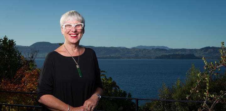 Mayor Steve Chadwick at her Kawaha Point home. 18 April 2019 Rotorua Daily Post Photograph by Stephen Parker.