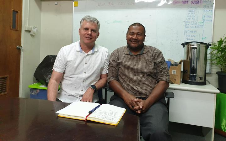 Co-director of the Otago Global Health Institute, Professor Philip Hill and Fiji National University's Sakiusa Cabe Baleivanualala.