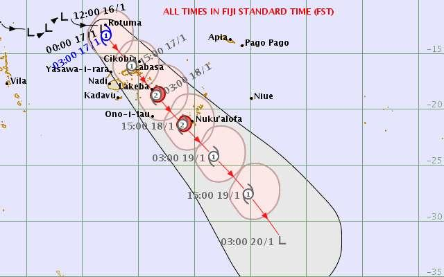 Two missing, 3000 in shelters as Cyclone Tino hits Fiji