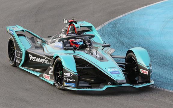 Jaguar Formule E-coureur Mitch Evans uit Nieuw-Zeeland.