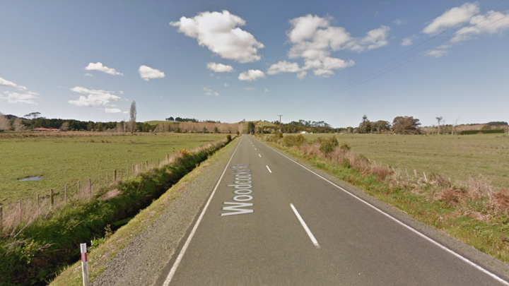 A motorcyclist has died after a crash on Woodcocks Rd, on the Kaipara Flats, today.