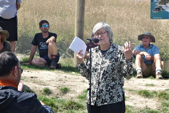 Eugenie Sage opened the Wharariki Ecosanctuary on the weekend.
