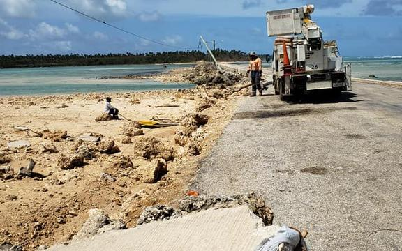Repairs are needed on the causeway between Lifuka and Foa