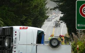 Glenorchy-Queenstown Road bus crash involving 20 people