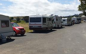 Freedom campers at the Whanganui East site on Anzac Parade