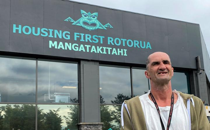 Housing First Rotorua peer support leader Justin Carr.