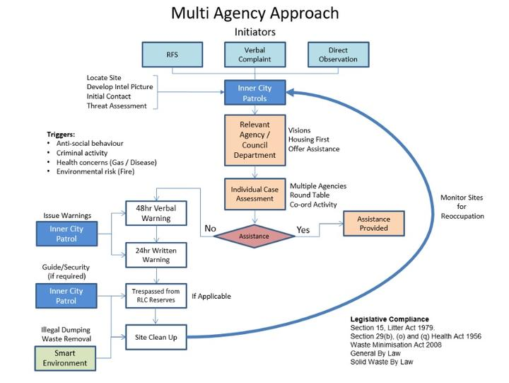 One of the leaked council documents - a process flowchart. Screen shot.