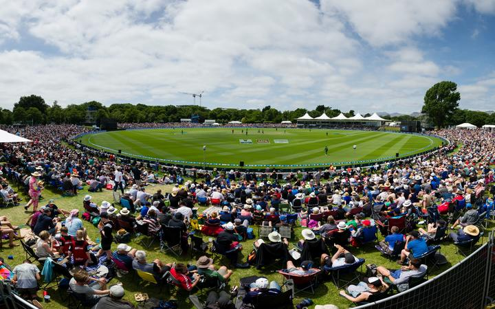 General view of Hagley Oval.