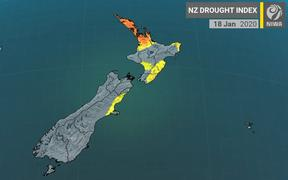 Niwa's NZ Drought Index shows meteorological drought hitting Northland from 18 January.