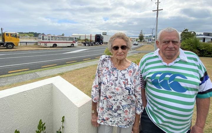 Arvida Glenbrae residents Molly Campbell (left) and Graham Winter.