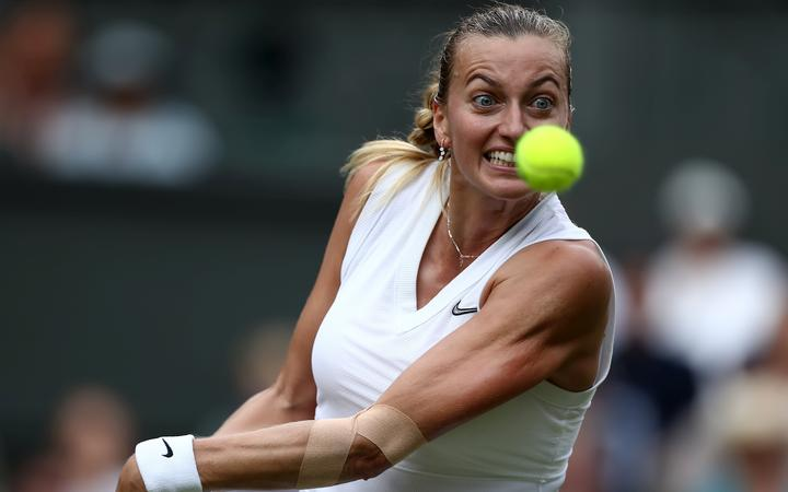 Kvitova books Open quarter-final berth
