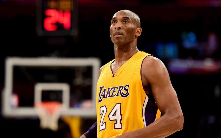 Kobe Bryant #24 of the Los Angeles Lakers reacts while taking on the Utah Jazz at Staples Center on April 13, 2016 in Los Angeles, California.