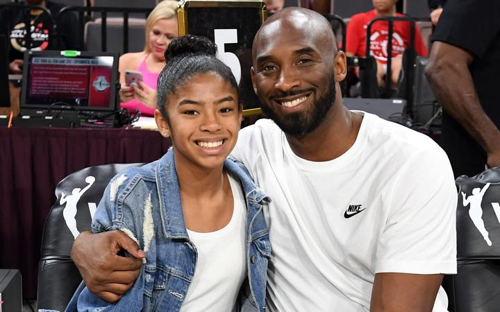 LAS VEGAS, NEVADA - JULY 27: Gianna Bryant and her father, former NBA player Kobe Bryant, attend the WNBA All-Star Game 2019 at the Mandalay Bay Events Center on July 27, 2019 in Las Vegas, Nevada.