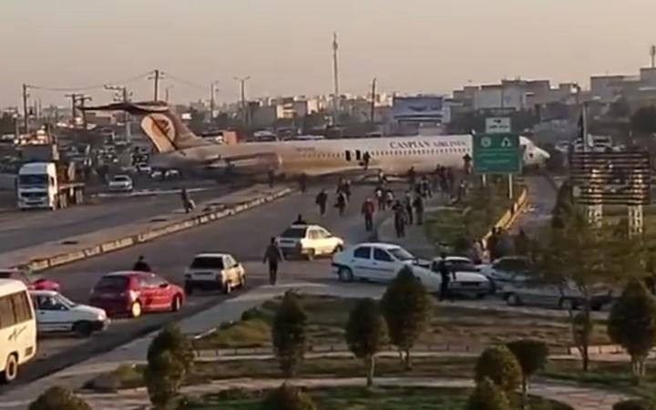 1st LD: Iranian passenger plane goes off runway while landing