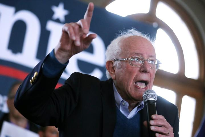 Democratic presidential candidate Sen. Bernie Sanders (I-VT) holds a campaign event at La Poste January 26, 2020 in Perry, Iowa.