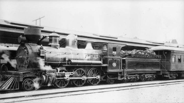 New Zealand Rail's V-Class locomotive in 1885