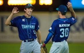 Auckland Tuatara Max Brown and Kent Blackstone.