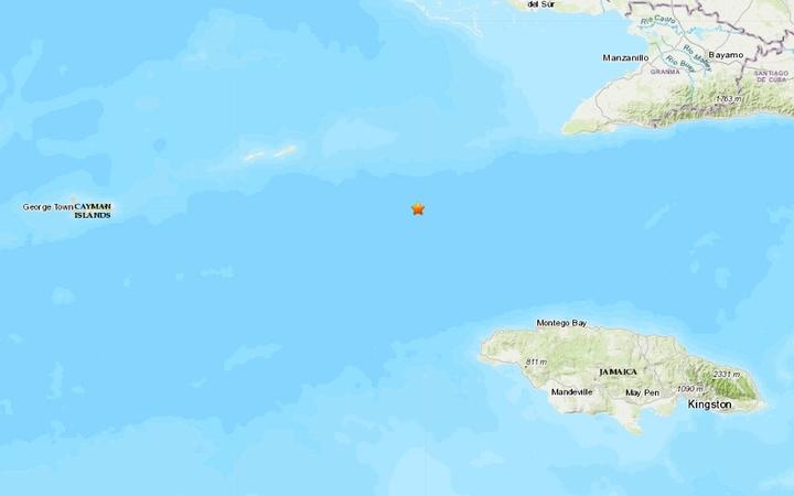 The magnitude 7.7 quake was 125km north-west of Lucea, Jamaica, at a depth of 10km, the USGS said.