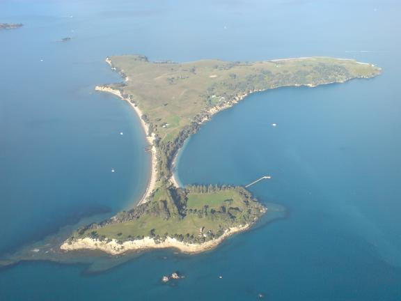 Motuihe Island in the Hauraki Gulf operated an internment camp for high-ranking German officials and officers in WWI