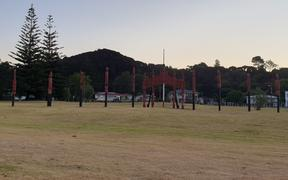 Tents will start going up on the Te Tii lawn in coming days as people from iwi far and wide descend on Waitangi to take part in the week's events.