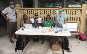 Majuro's frontline of defense against measles and the new coronavirus is the Ministry of Health and Human Service's airport screening team that checks all inbound passengers for measles vaccine documentation or travel originated in China, Macau and Hong Kong.