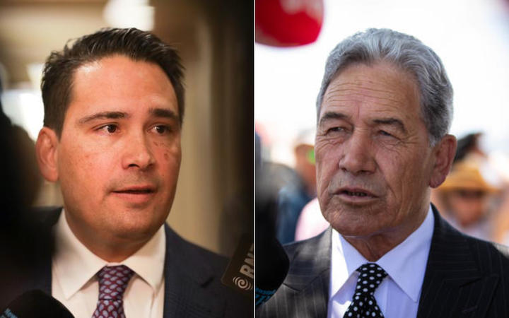 Simon Bridges and Winston Peters.