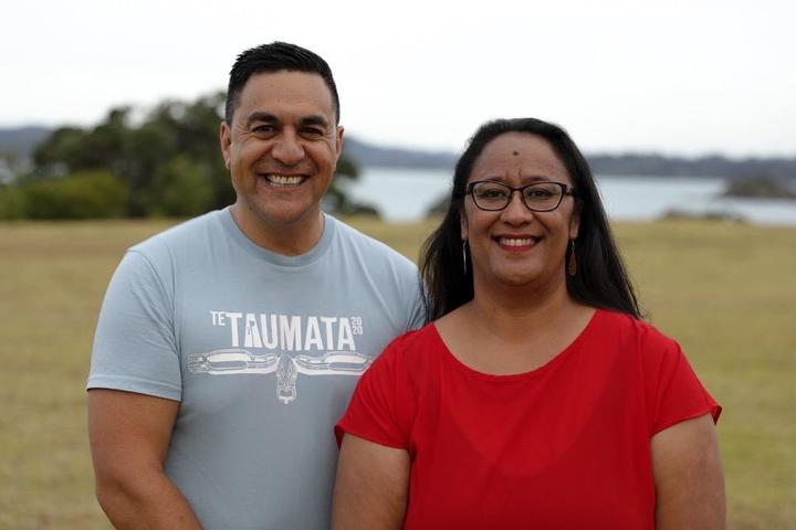 Julian Wilcox and Shannon Haunui Thompson