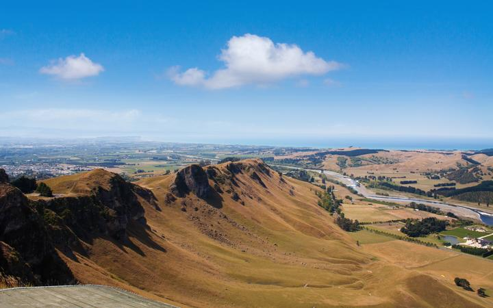 Dry conditions in Hawke's Bay, photograph taken from Te Mata Peak.