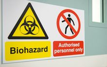 biohazard sign at airport