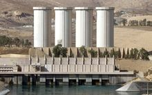 The Mosul dam on the Tigris River.