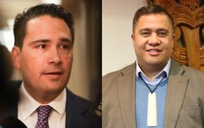 Simon Bridges and Che Wilson