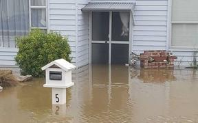 Alison Bishop's house in Mataura suffered flooding damage. February 2020.