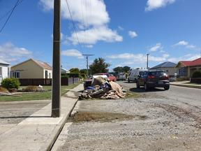 Discarded items following the flooding in Mataura.