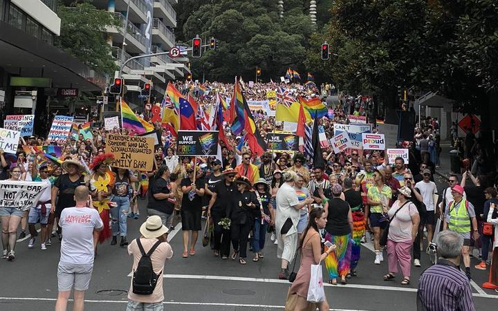 Thousands turn out for gay pride march in Auckland
