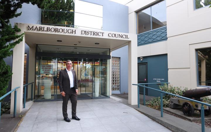 Marlborough District Council economic, community and support services manager Dean Heiford at the Seymour St building