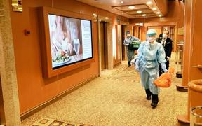 Coronavirus testing on board the Diamond Princess cruise ship in Japan