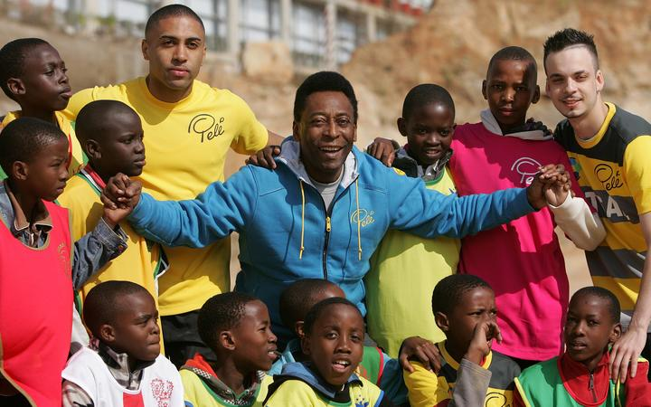 Football legend Pele during a visit to South Africa in 2010.
