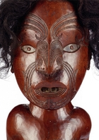 The 'Frum Maori Figure' will be auctioned in Paris next month.