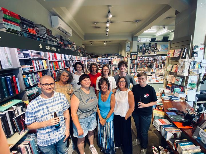 Staff at Unity Books Auckland