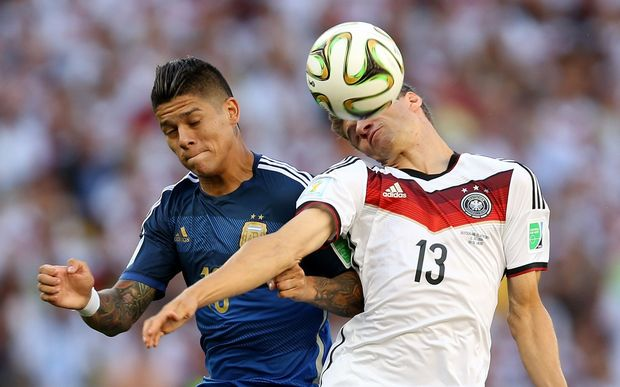 The Argentinian defender Marcos Rojo.