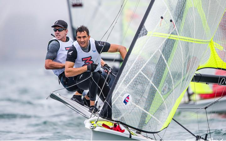 Peter Burling and Blair Tuke 49er 2020 world champs.
