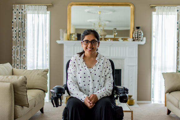 Latifa Daud at home in Auckland.