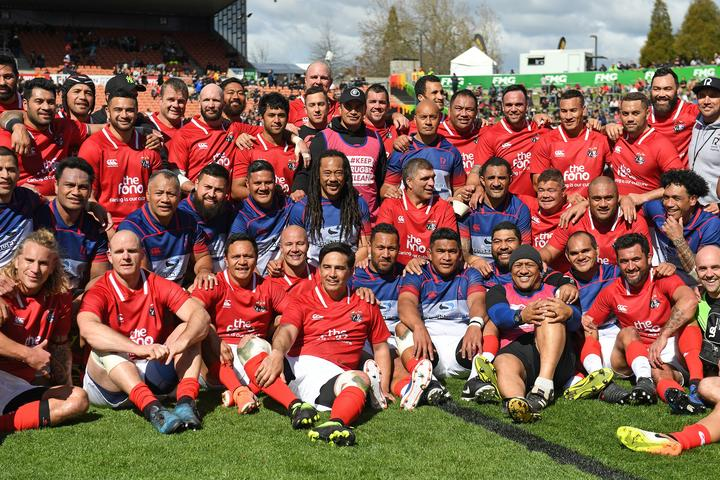The Pacific Legends played against the NZ Barbarians Legends prior to the All Blacks v Tonga test last year.