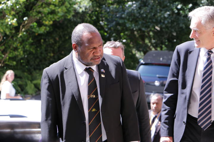 PNG Prime Minister James Marape in Wellington, 24 February 2020