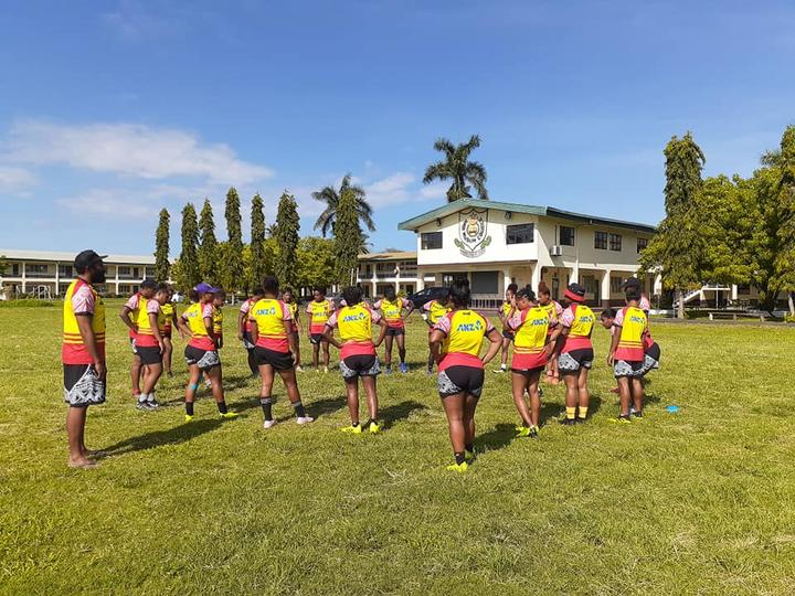 PNG Women's XV training session ahead of the 2019 Oceania Women's Championship.